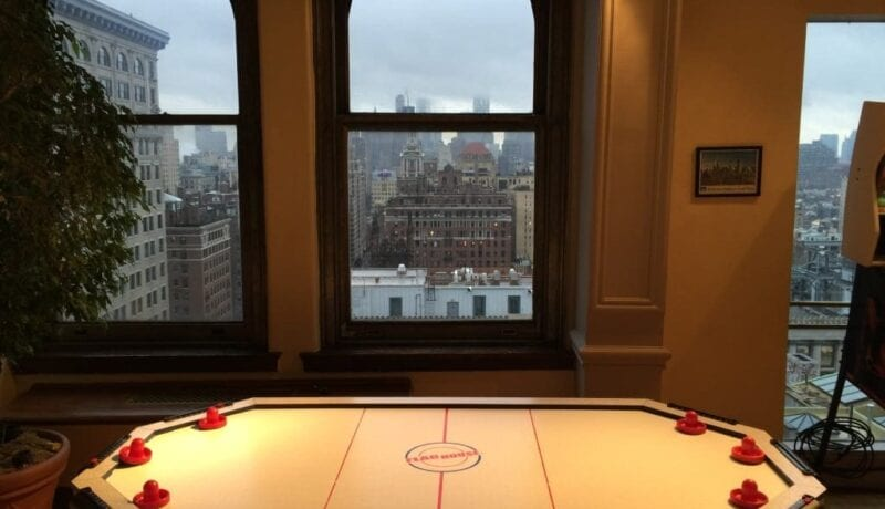 air hockey at nyc penthouse