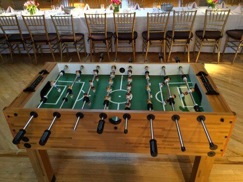 top view of our Foosball Game