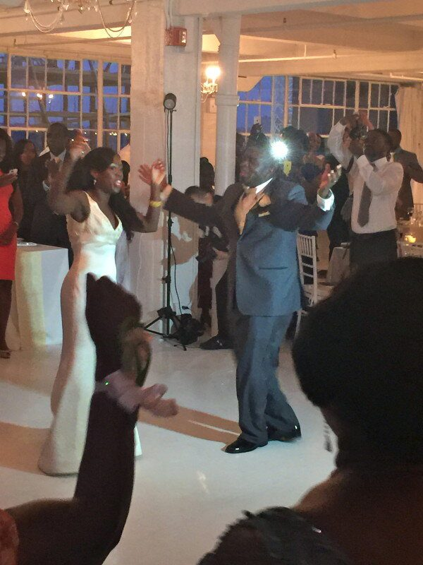 African & Hatian Bride and Groom first dance