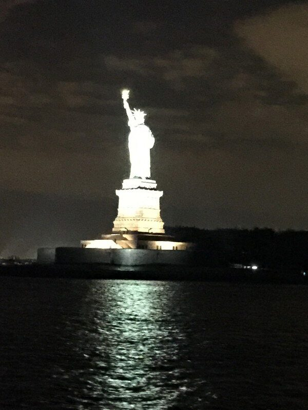 Statue of Liberty DJ view from Yacht