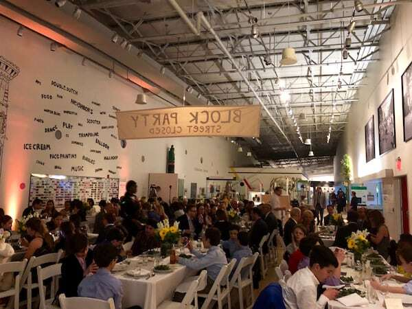 Brooklyn Children's Museum event space during Mitzvah