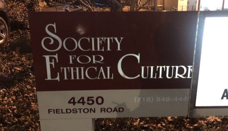 Ethical Culture Sign