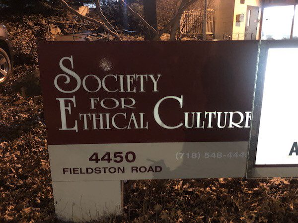 Society for Ethical Culture sign