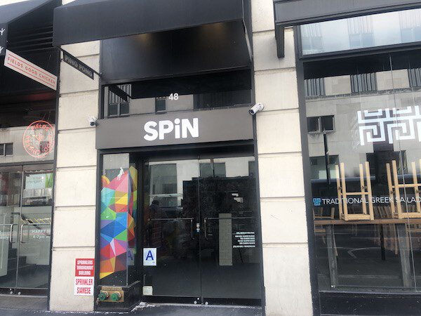 Spin Ping Pong Front Sign in NYC