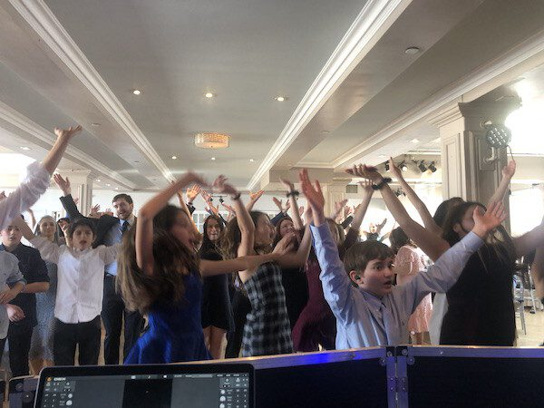 Bar Mitzvah full dance floor at New York City Penthouse