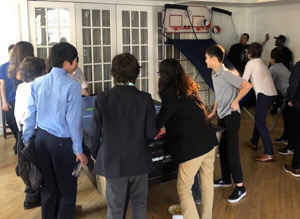 kids playing Expressway Music DJ sports games at Bar Mitzvah NYC