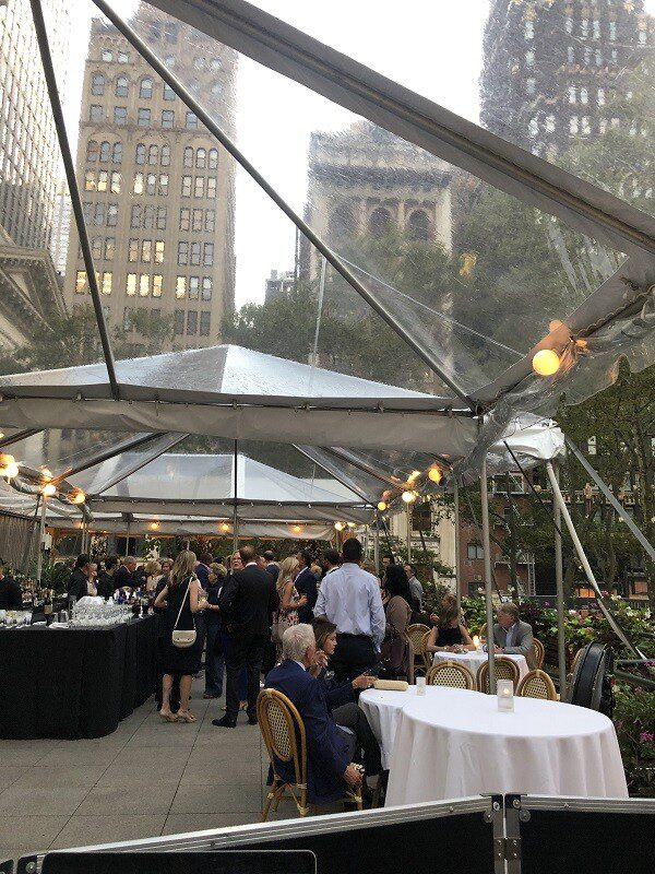 Corporate Cocktail hour with dj on Bryant Park Rooftop