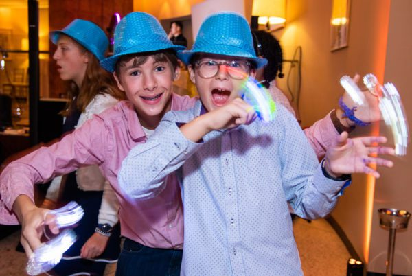 Bat Mitzvah guests having fun with Party Props